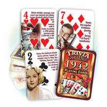 1942 Trivia Challenge Playing Cards: 76th Birthday or Anniversary Gift