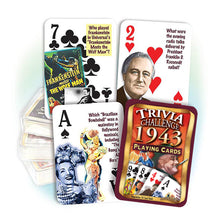 1943 Trivia Challenge Playing Cards: 75th Birthday or Anniversary Gift