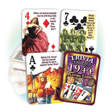 1944 Trivia Challenge Playing Cards: 74th Birthday or Anniversary Gift