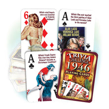 1946 Trivia Challenge Playing Cards: 72nd Birthday or Anniversary Gift
