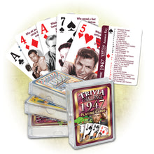 1947 Trivia Challenge Playing Cards: 71st Birthday or Anniversary Gift