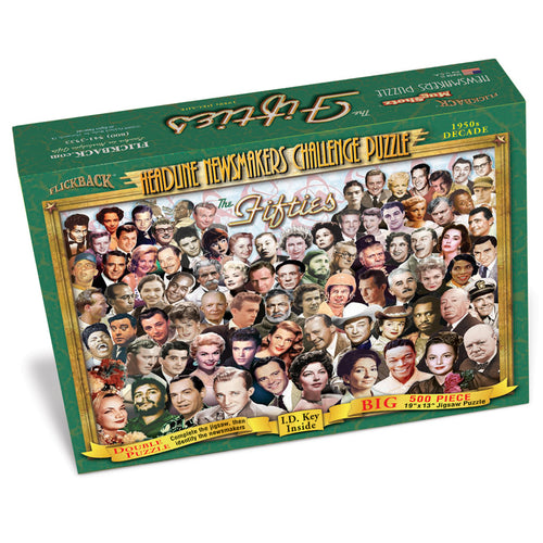 1950s Decade Flickback Newsmakers Puzzle
