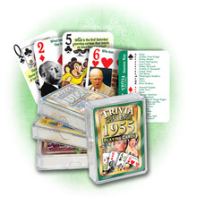 1955 Trivia Challenge Playing Cards: Great Birthday or Anniversary Gift