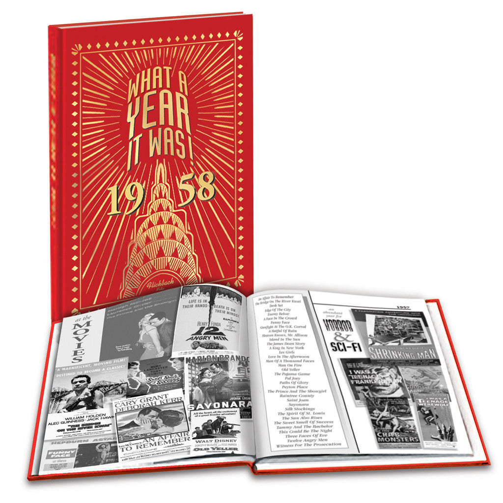 1958 What A Year It Was: Birthday or Anniversary Hardcover Coffee Table Book