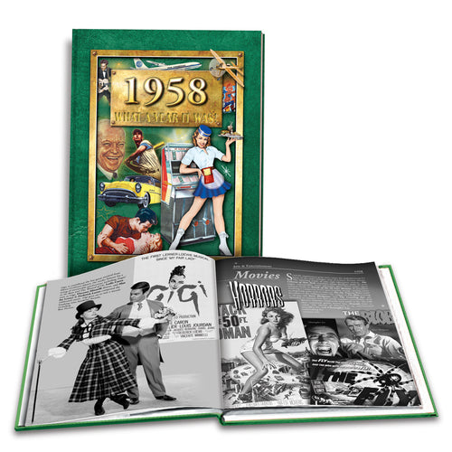 1958 What A Year It Was: 60th Birthday or Anniversary Hardcover Coffee Table Book, 2nd edition