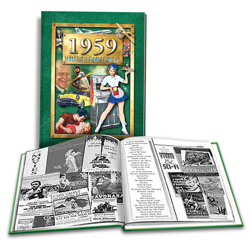 1959 What A Year It Was! Coffee Table Book: Happy 60th Birthday or Anniversary Gift