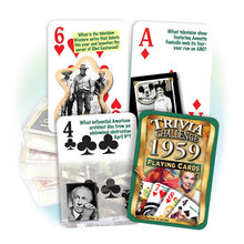 1959 Trivia Challenge Playing Cards: Happy 60th Birthday or Anniversary Gift