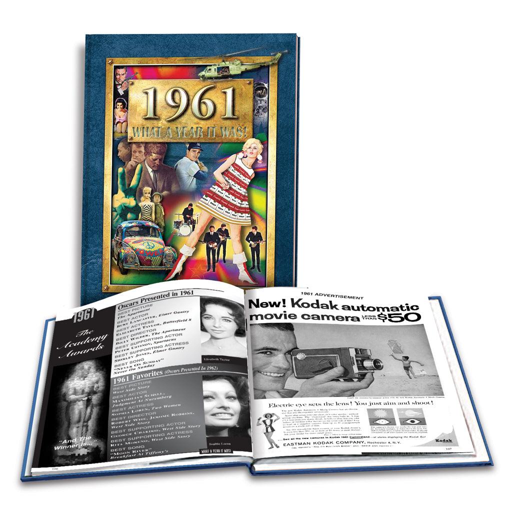 1961 What a Year It Was!: Great Birthday or Anniversary Gift - Coffee Table  Book