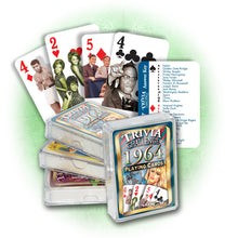 1964 Trivia Challenge Playing Cards: Birthday or Anniversary Gift