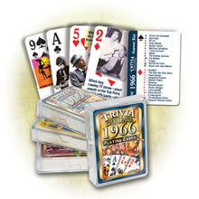 1966 Trivia Challenge Playing Cards: 52nd Birthday or Anniversary