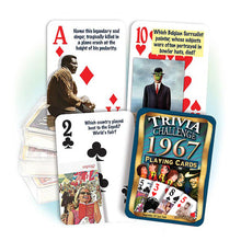 1967 Trivia Challenge Playing Cards: 51st Birthday or Anniversary Gift