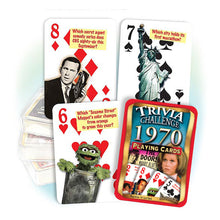 1970 Trivia Challenge Playing Cards: 50th Birthday or Anniversary Gift