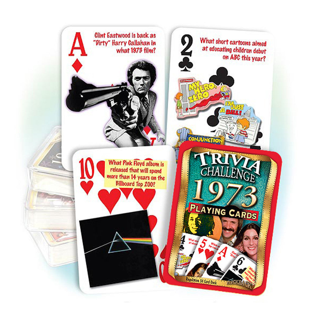 1973 Trivia Challenge Playing Cards: Great Birthday or Anniversary Gift