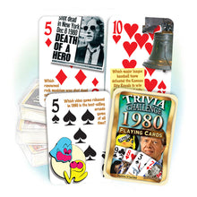 1980 Trivia Challenge Playing Cards: Birthday or Anniversary Gift