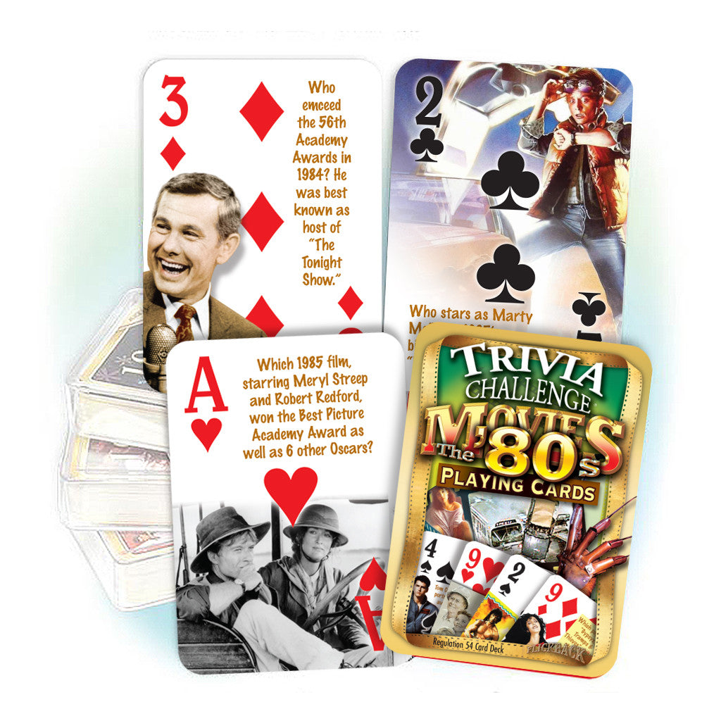 1980s Movies Trivia Challenge Playing Cards