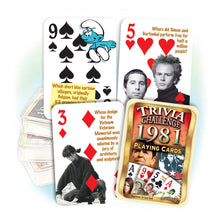 1981 Trivia Challenge Playing Cards: 37th Birthday or Anniversary Gift