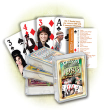 1983 Trivia Challenge Playing Cards: 34th Birthday or Anniversary Gift
