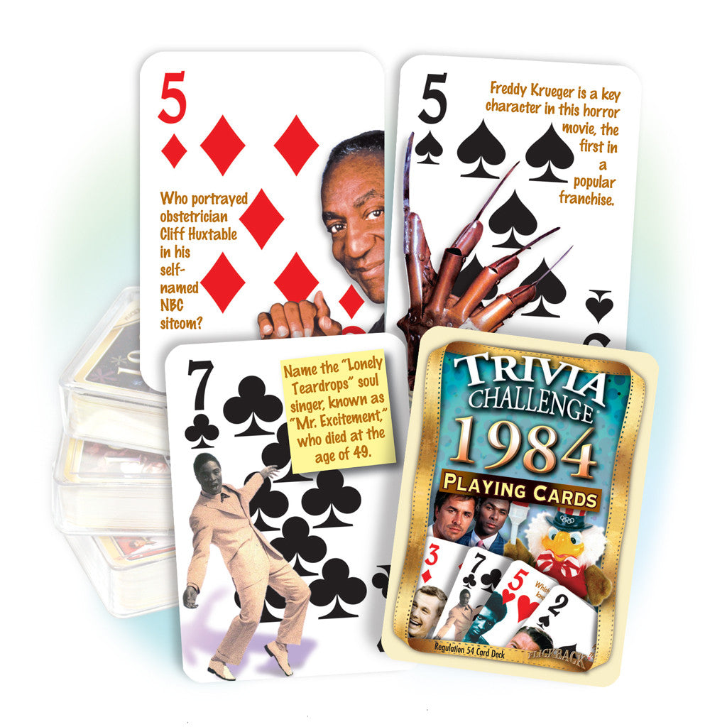 1984 Trivia Challenge Playing Cards: Birthday or Anniversary Gift