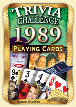 1989 Trivia Challenge Playing Cards: Happy 30th Birthday or Anniversary Gift