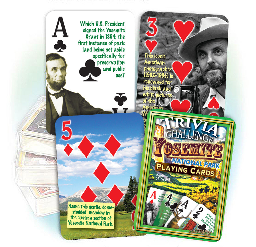 Yosemite National Park Trivia Playing Cards: