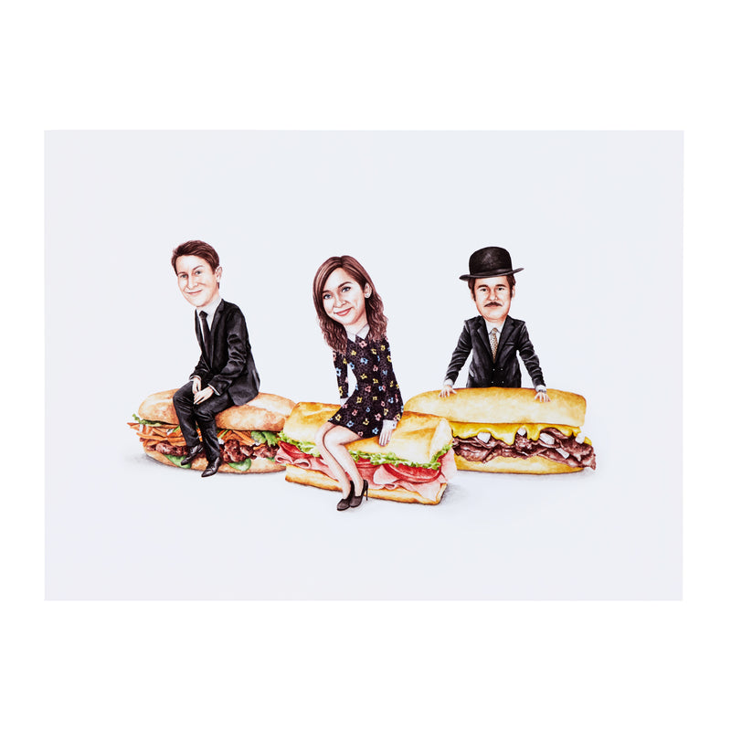 Celebs on Sandwiches: Trifecta Poster