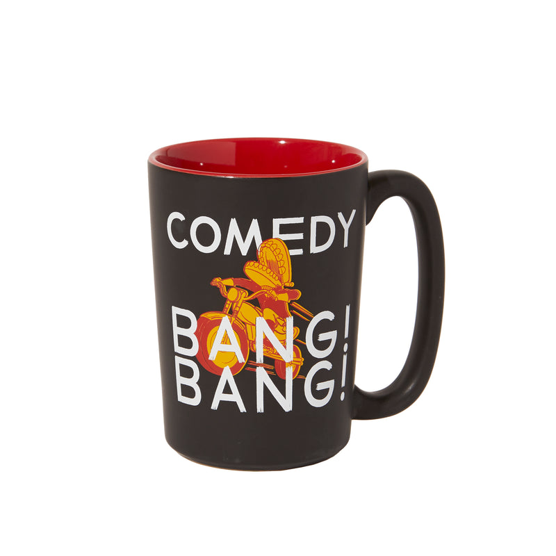 Comedy Bang Bang: Black Matte Mug