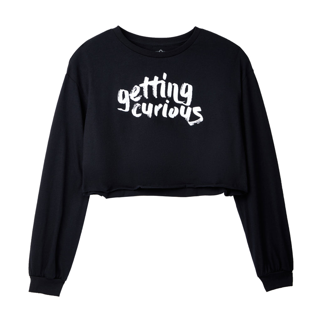 Getting Curious: Ladies Long-Sleeve Crop
