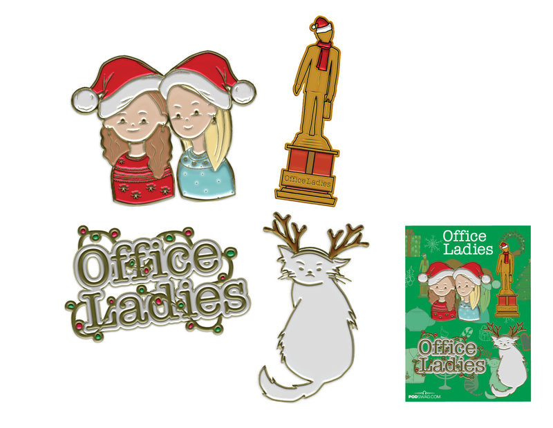 Office Ladies: Holiday Pin Set