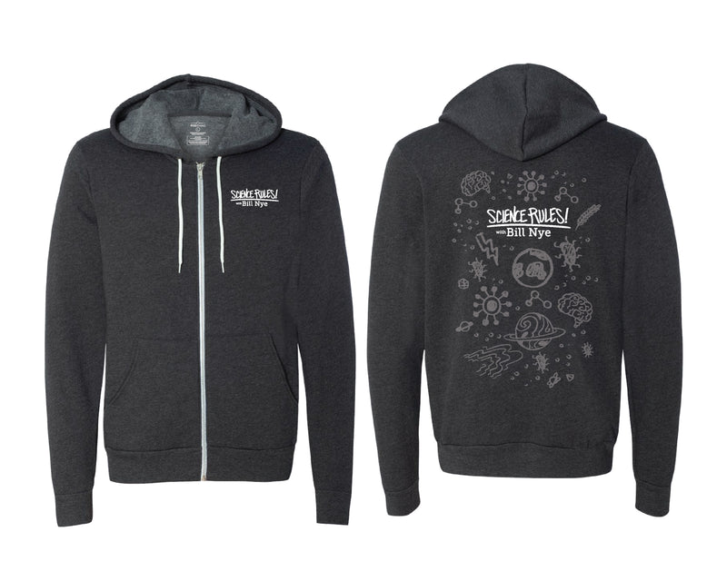 Science Rules: Icons Zip Hoodie