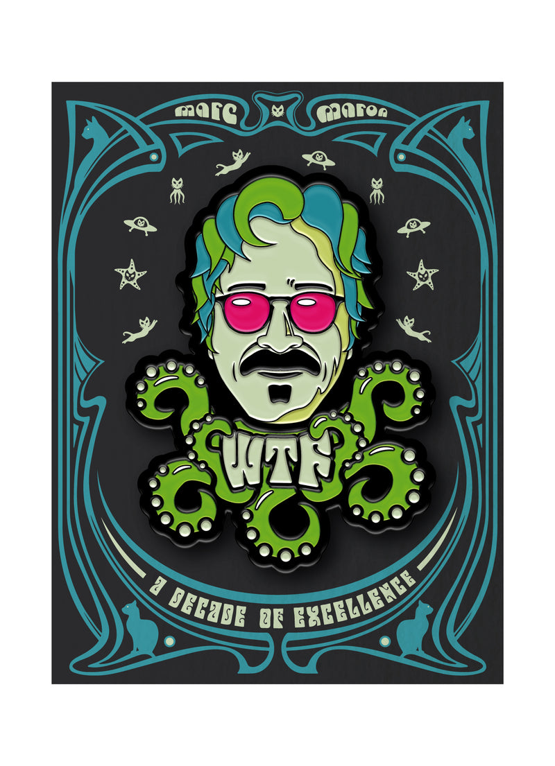 WTF: Decade Of Domination Enamel Pin