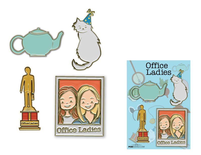 Office Ladies: Enamel Pin Set