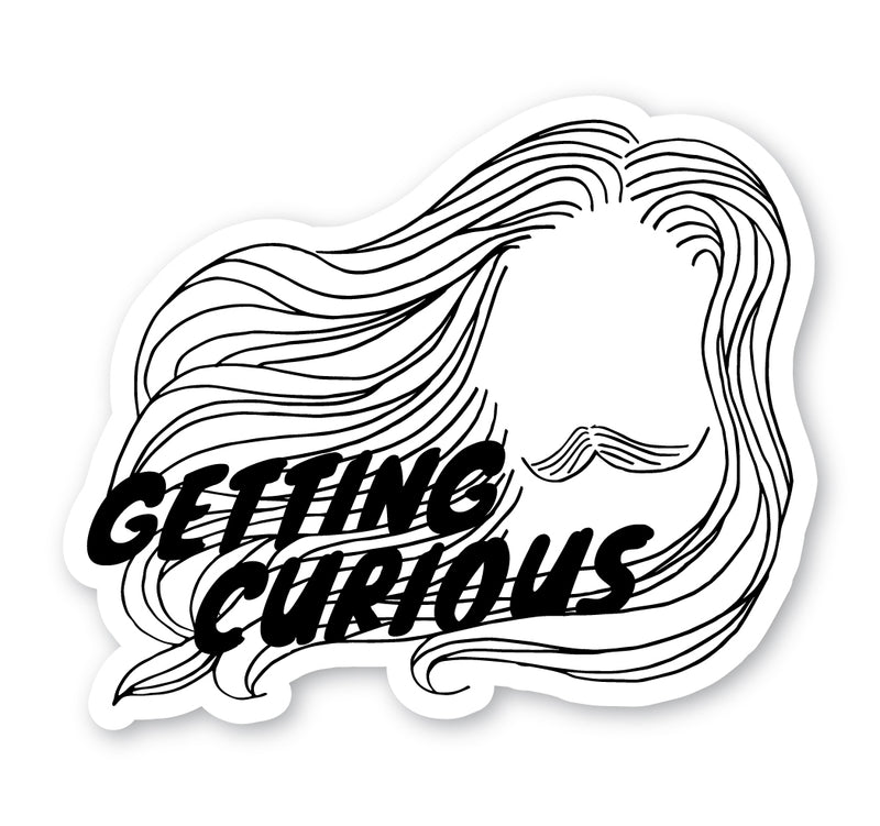 Getting Curious: Horizontal Sticker