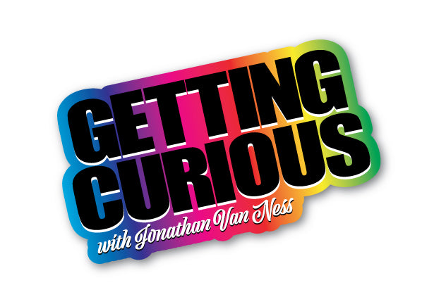 Getting Curious: Rainbow Title Sticker