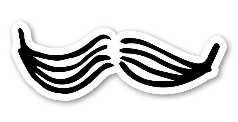 Getting Curious: Mustache Sticker