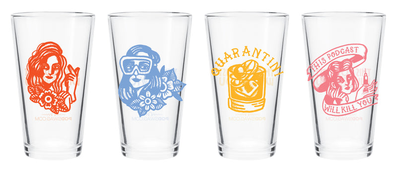 This Podcast Will Kill You: Pint Glass Set