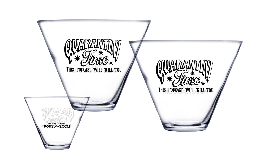 This Podcast Will Kill You: Stemless Quarantini Glass Set
