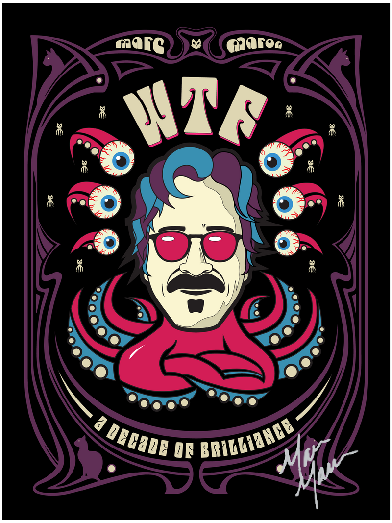 SIGNED: WTF Decade Of Brilliance Poster