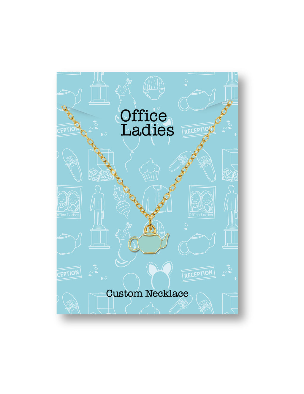 Office Ladies: Enamel Teapot Necklace