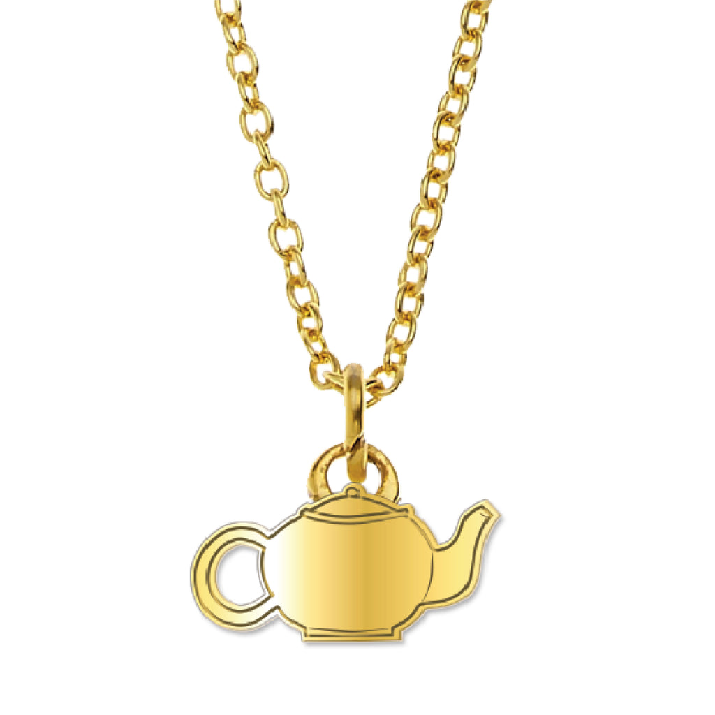 Office Ladies: Gold Teapot Necklace