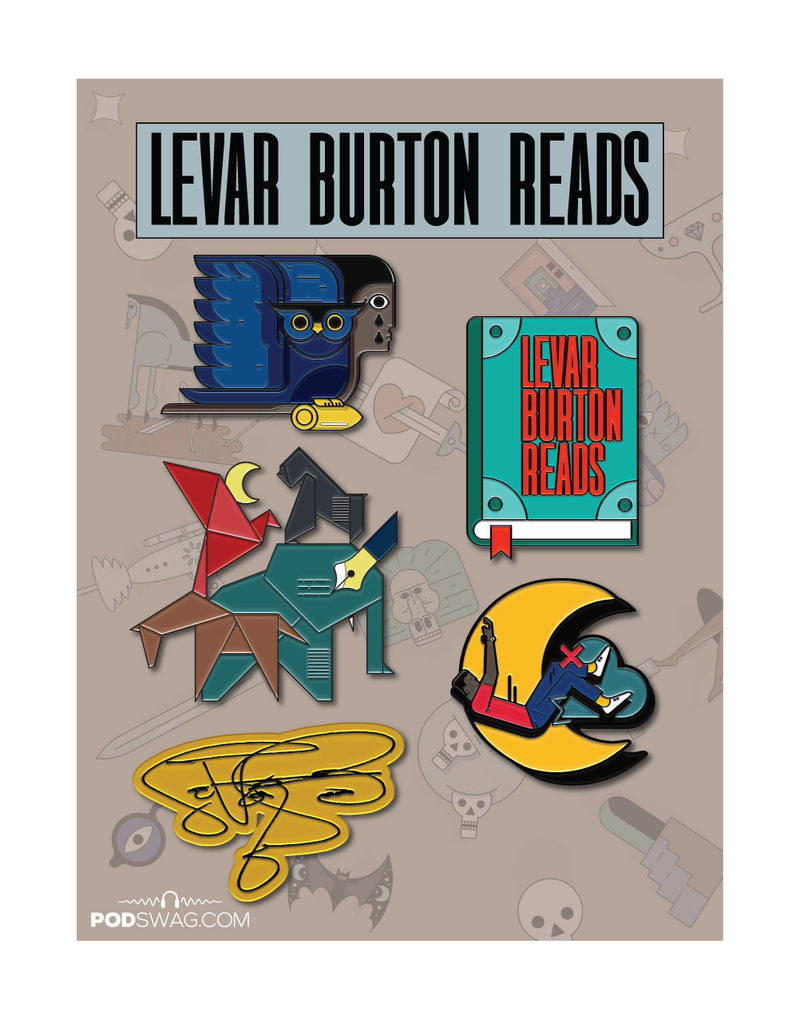 LeVar Burton Reads: Enamel Pin Set