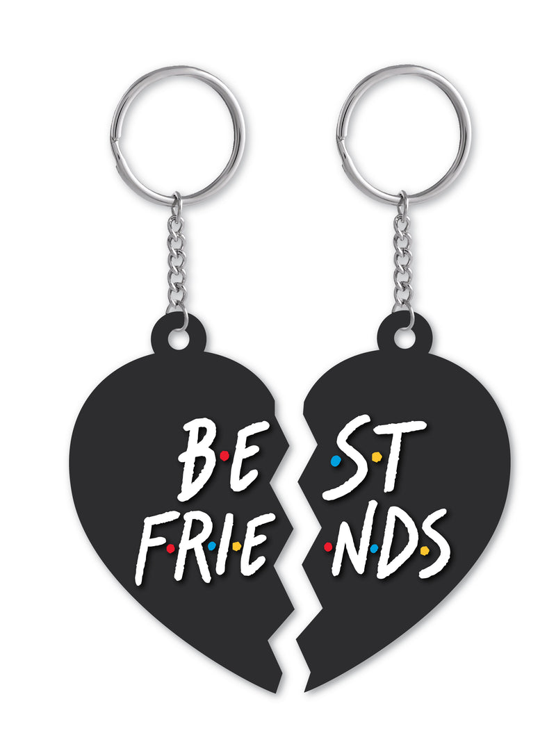 Best Friends: Shared Heart Keychain
