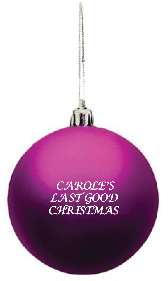 Bitch Sesh: Carole's Last Good Christmas Ornament