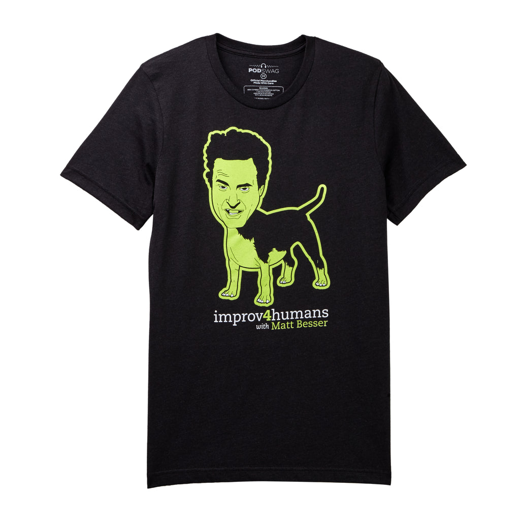 improv4humans: Black Dog Form T-shirt
