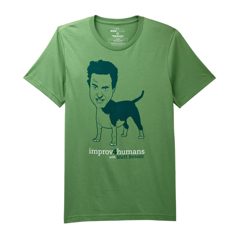 improv4humans: Green Dog Form T-shirt