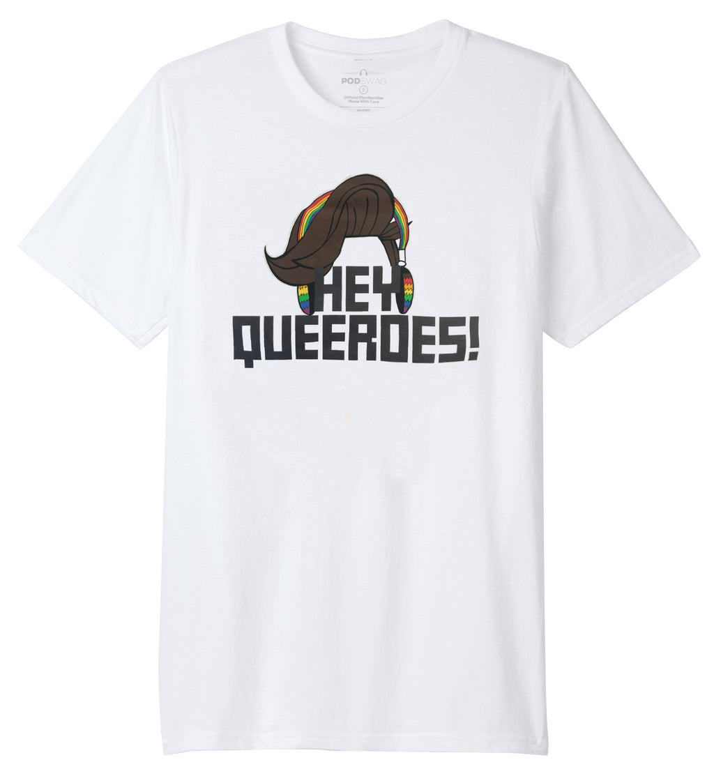 Queery: Hey Queeroes! T-shirt