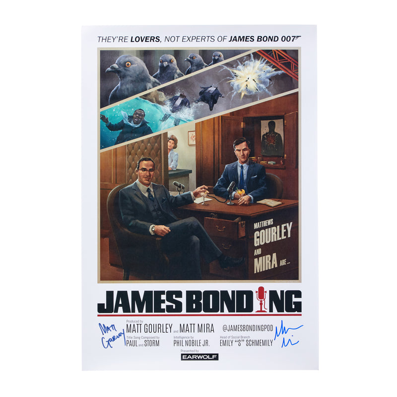 Signed-James Bonding Poster