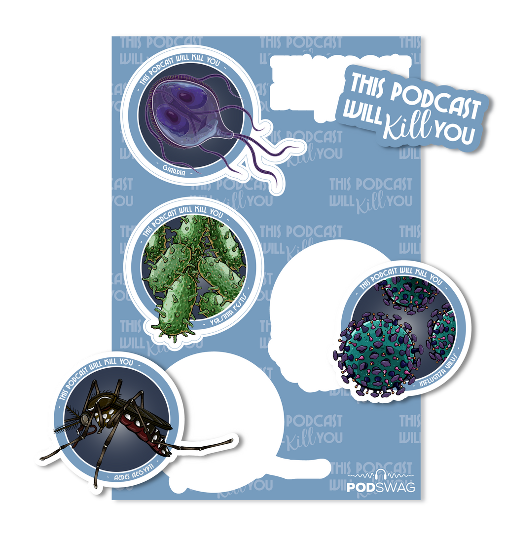 This Podcast Will Kill You: Pathogens Sticker Sheet