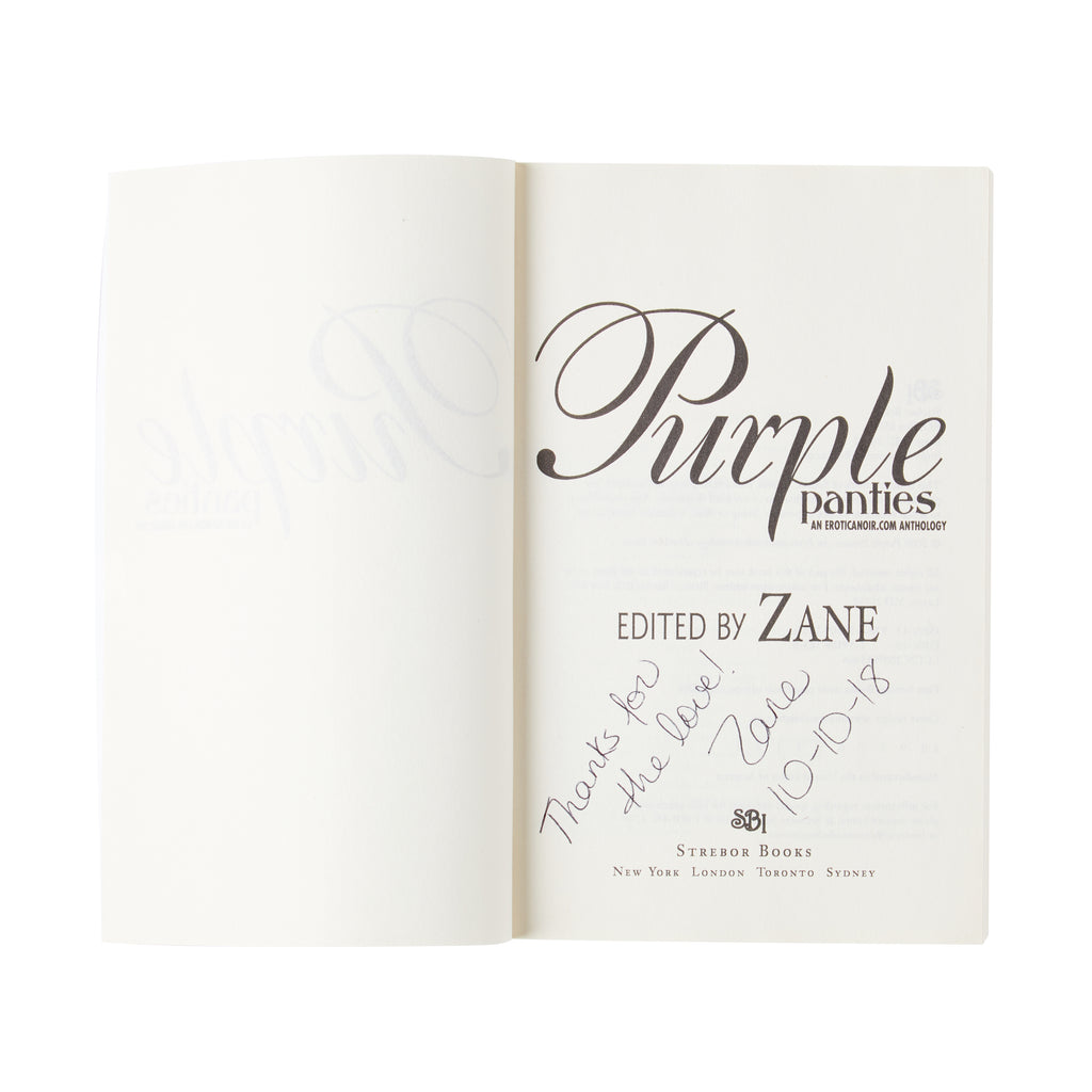 SIGNED Purple Panties: An Eroticanoir.com Anthology