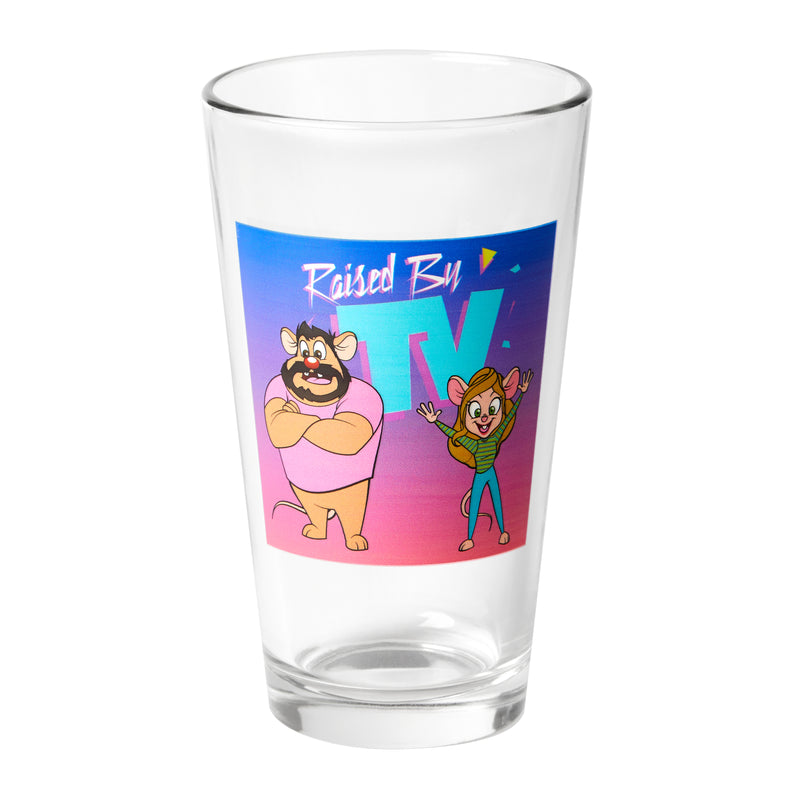 Raised by TV: Pint Glass #2