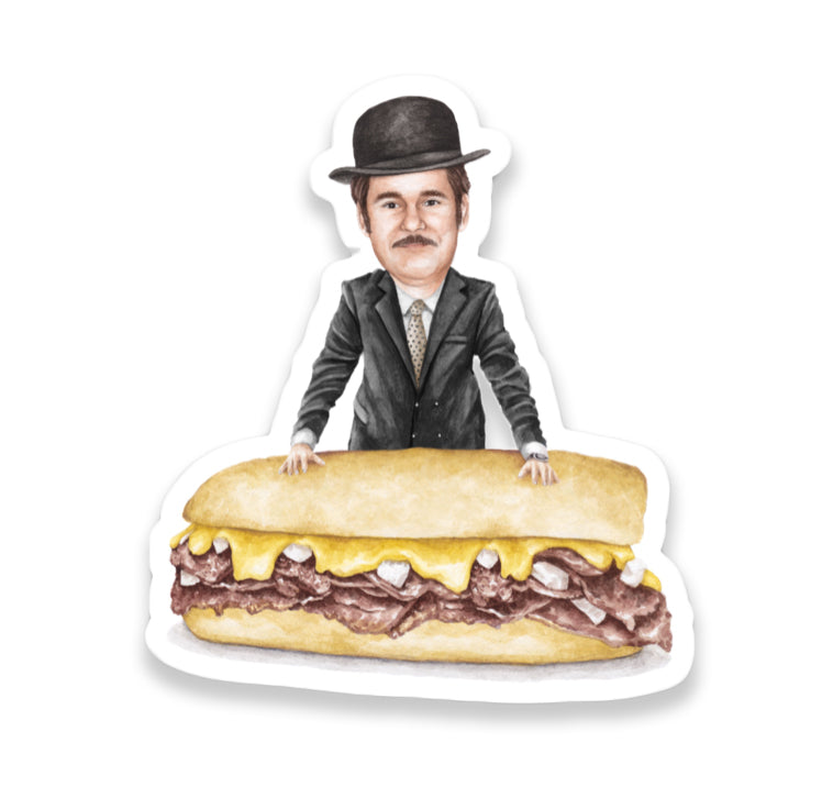 Celebs on Sandwiches: Paul F. Tompkins Sticker